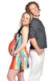 Fashion couple expecting a baby 4 Stock Photography
