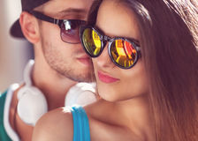 Fashion couple with Royalty Free Stock Images