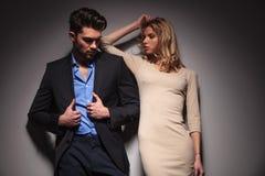 Fashion couple posing Stock Images