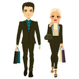 Fashion Couple Shopping Royalty Free Stock Photo