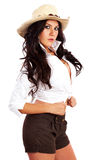 Fashion cowgirl Stock Photo