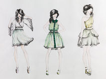 Fashion creations Stock Images