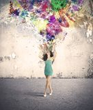 Fashion and creativity explosion Stock Images