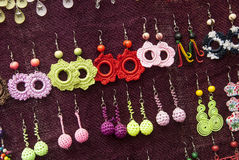 Fashion - Crochet Earrings Patterns Royalty Free Stock Photos