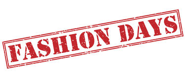 Fashion days red stamp Royalty Free Stock Image