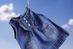 Fashion denim baby dress Stock Image