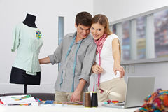 Fashion design as online class royalty free stock images