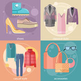Fashion design clothes and accessories Royalty Free Stock Image