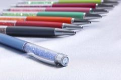 Fashion design colorful crystal  pen Stock Photos