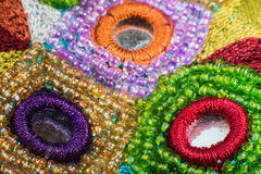 Fashion design elements on fabric Royalty Free Stock Photos