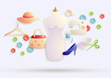Fashion Design Illustration Stock Photo