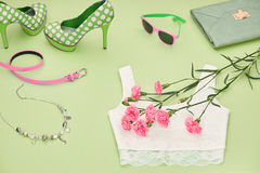 Fashion Design Luxury Clothes Accessories Outfit. Royalty Free Stock Image