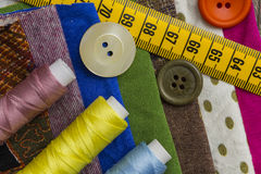 Fashion design - Sewing items Royalty Free Stock Photos