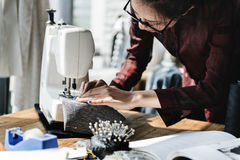Fashion Design Sewing Machine Concept royalty free stock photography