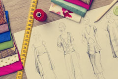 Fashion Design sketch Royalty Free Stock Image
