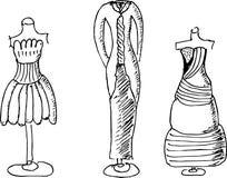 Fashion design sketches Stock Image