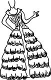 Fashion design sketches Royalty Free Stock Images