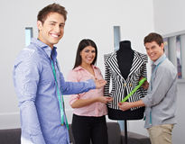Fashion design students showing Royalty Free Stock Photo