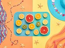 Fashion Design. Tropical Summer Set. Bright Color Stock Images