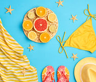 Fashion Design. Tropical Summer Set. Bright Color Stock Photography