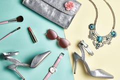 Fashion Design Woman Accessories Set. Minimal. Art Stock Photo
