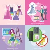 Fashion Designer Design, Shopping Tour, Dress Code Stock Image