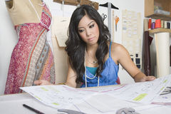 Fashion Designer At Desk Stock Photos