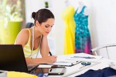 Fashion designer drawing Royalty Free Stock Photo