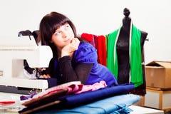 Fashion Designer In Her Studio Royalty Free Stock Photo