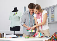Fashion designer making color Royalty Free Stock Image