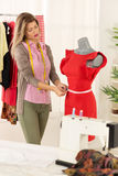 Fashion Designer With Mannequin Royalty Free Stock Photography