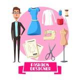 Fashion designer profession vector accessories Stock Image