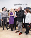Fashion designer Rocco Barocco on the opening day of the first mono-brand store in Russia Royalty Free Stock Image