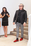 Fashion designer Rocco Barocco on the opening day of the first mono-brand store in Russia Stock Images
