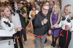 Fashion designer Rocco Barocco on the opening day of the first mono-brand store in Russia Stock Photos