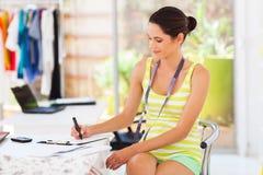 Fashion designer sketching Royalty Free Stock Image