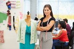 Fashion Designer In Studio Stock Image