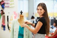 Fashion Designer In Studio stock photography