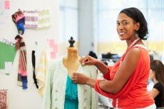 Fashion Designer In Studio. Smiling Royalty Free Stock Image