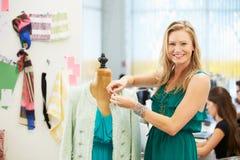 Fashion Designer In Studio Stock Image
