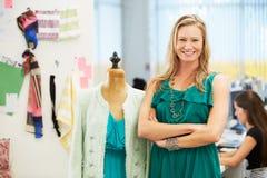 Fashion Designer In Studio Royalty Free Stock Images