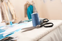 Fashion designer studio with equipment Stock Photo