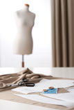 Fashion designer studio with mannequin Stock Image