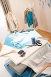 Fashion designer studio with mannequin Royalty Free Stock Photos