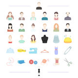 Fashion designer, style and other web icon in cartoon style. Fashion designer, style and other  icon in cartoon style. atelier, textile, fashion icons in set Stock Image