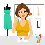 Fashion designer thinking concept Royalty Free Stock Photo