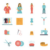 Fashion designer tools icon set Stock Image