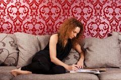 Fashion designer at work Stock Photography