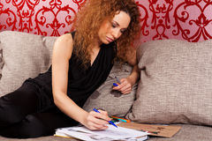 Fashion designer at work Royalty Free Stock Photo