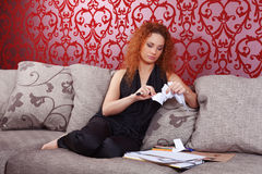 Fashion designer at work Royalty Free Stock Image